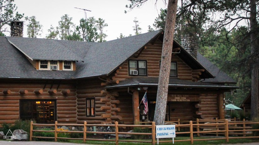 Main Building for Check in at Blue Belle Lodge Custer Cabins