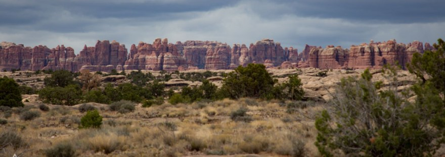 View of Canyonlands Needles Rock Formations