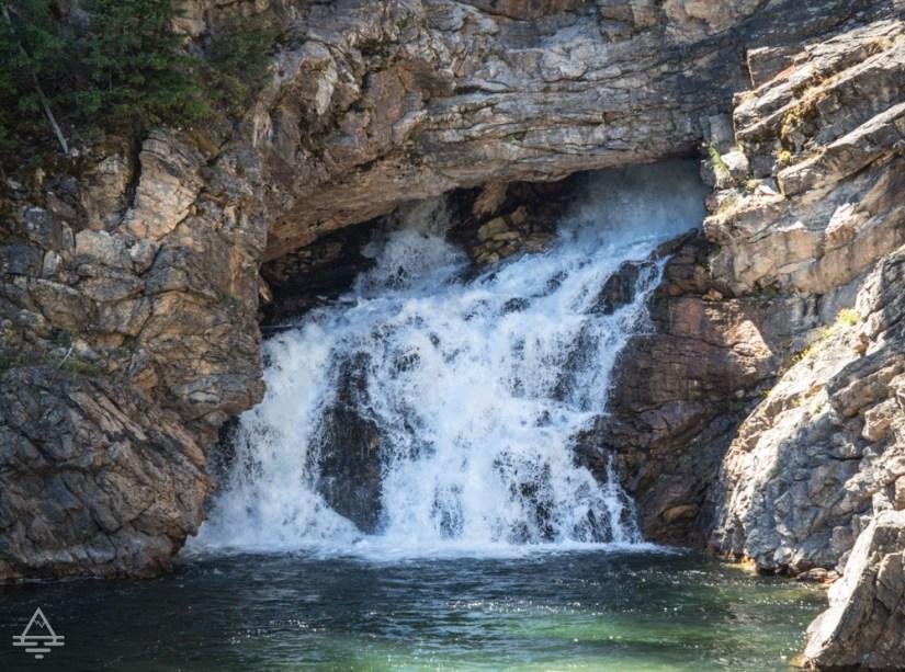 Running Eagle Falls in Glacier National Park