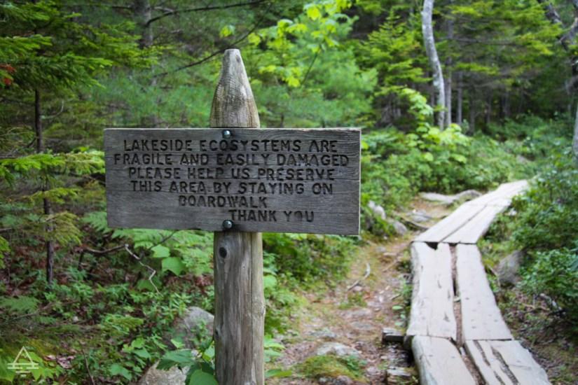 Jordan Pond Path Sign