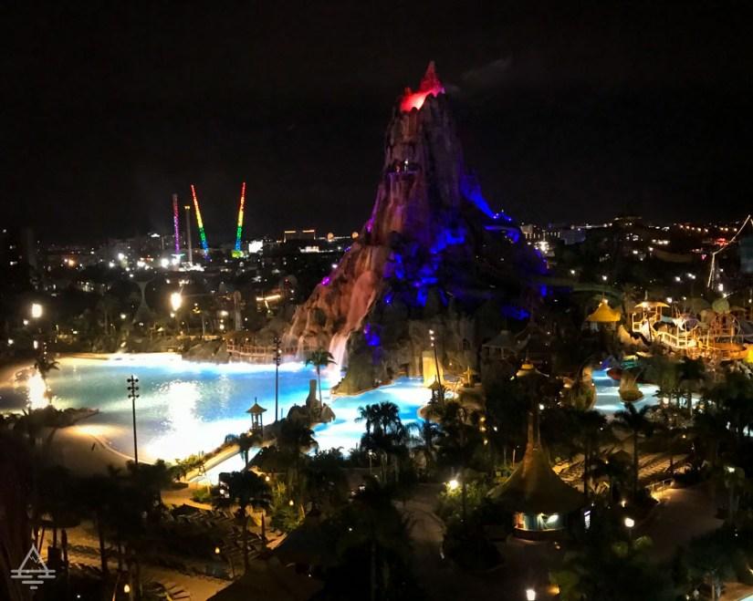 View of Volcano Bay at Night