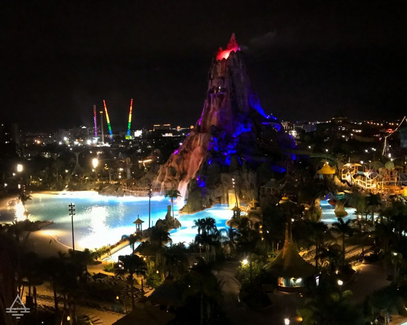 View of Volcano Bay at Night