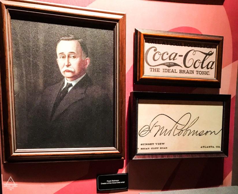 Portrait of Frank Robinson and Coca Cola Script