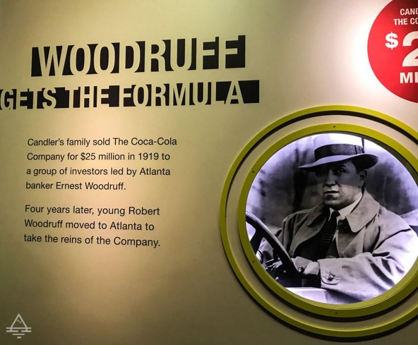 Display of Coke Formula History