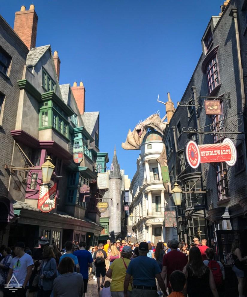 Diagon Alley in  Harry Potter World Orlando