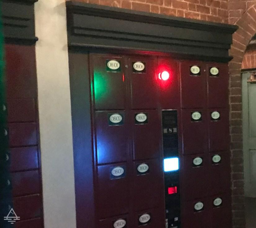 Lockers in Diagon Alley in Harry Potter World Orlando
