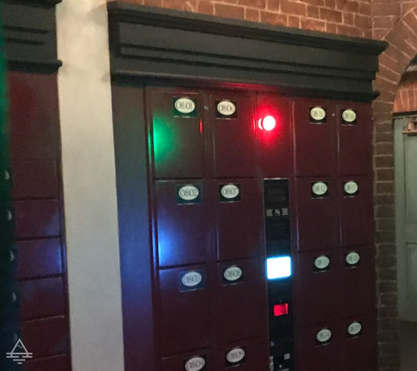 Lockers in Diagon Alley in Harry Potter World Orlando