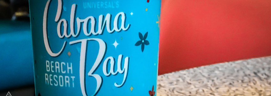 Close up of Cabana Bay refillable mug