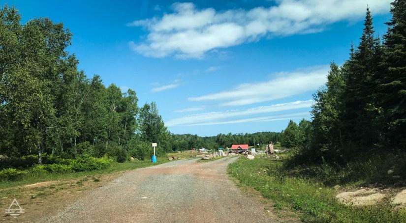 Gravel Road to Panorama Amethyst Mine