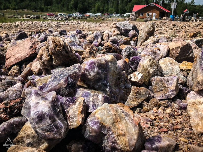 Amethyst on the Ground at Thunder Bay Amethyst Mine
