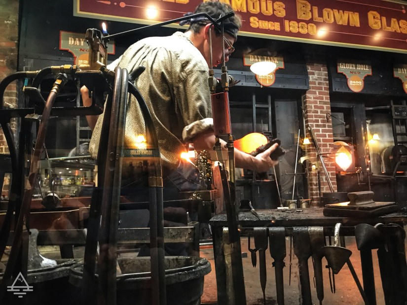 Man blowing glass at Silver Dollar City.