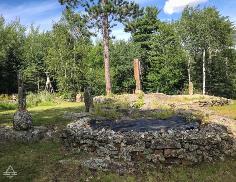 Ellsworth Rock Gardens Sculptures and Flowerbeds
