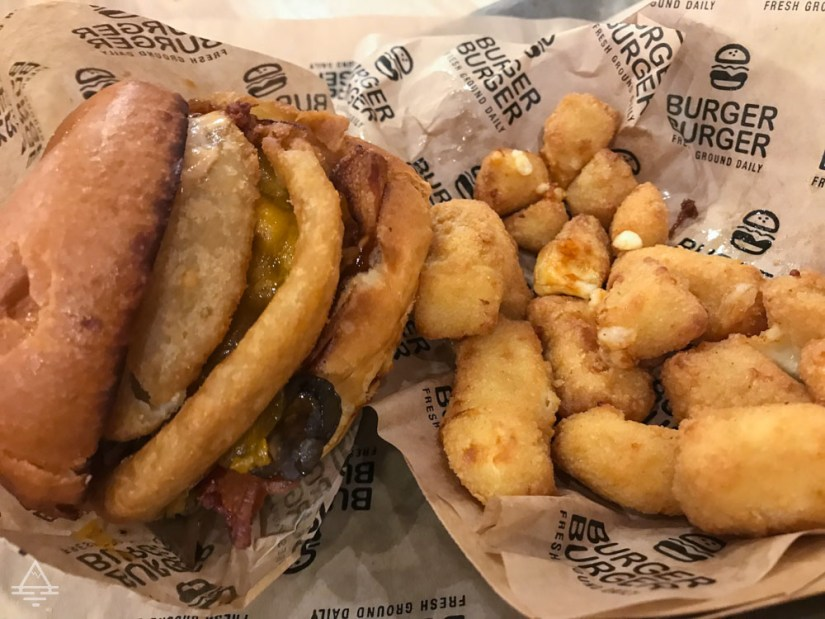 Burger and Cheese Curds