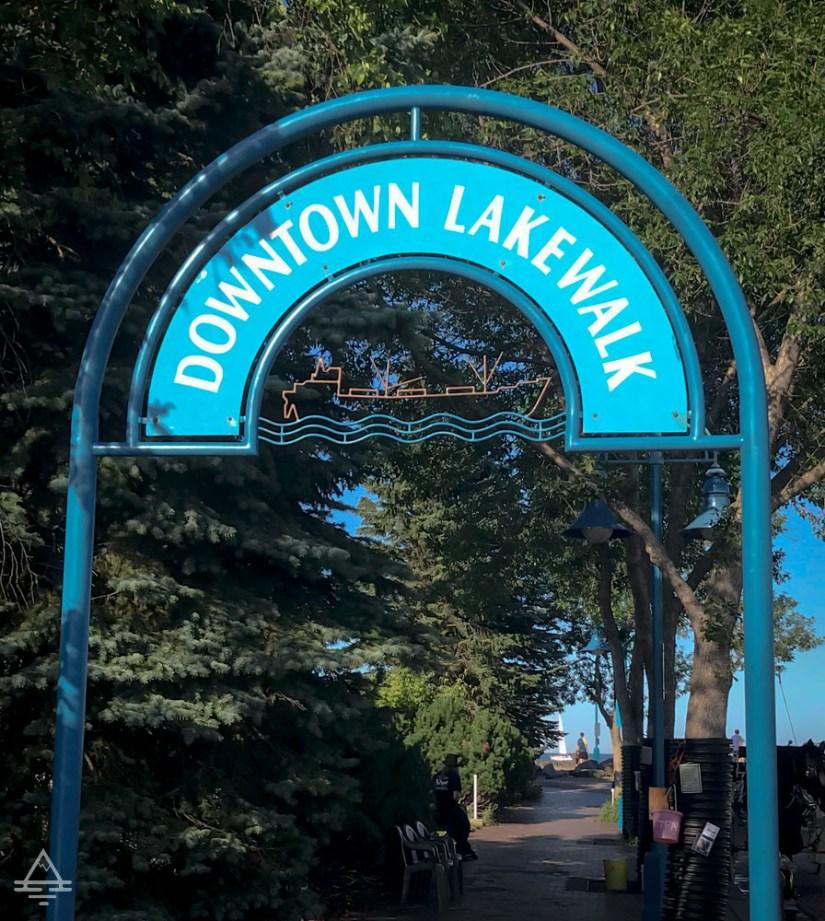 Entrance to Duluth Lakewalk