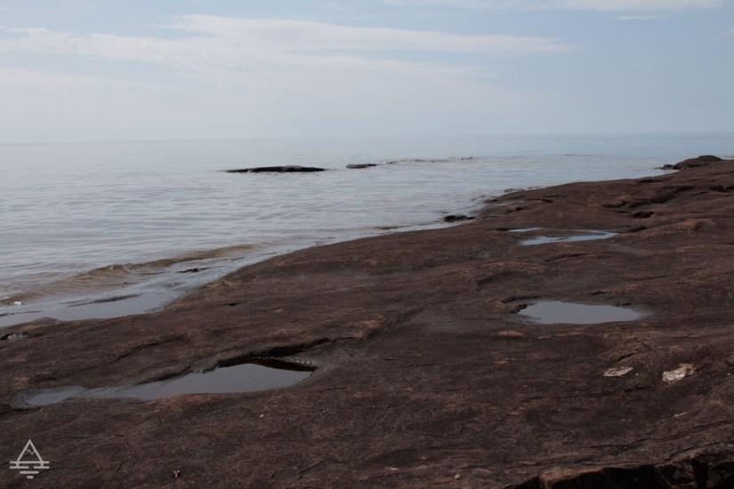Rocky Coastline of Lake Superior at the Point in Grand Marais