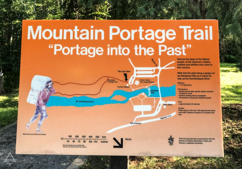 Sign for Mountain Portage Trail