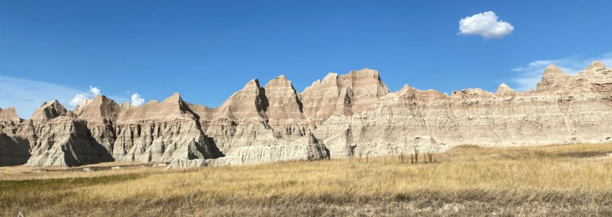 Rock formations and a blue sky