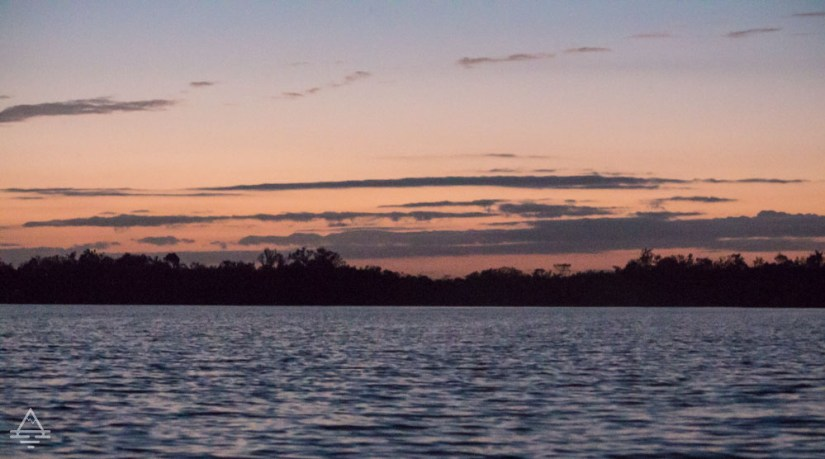 Sunset over water in Everglades National Park
