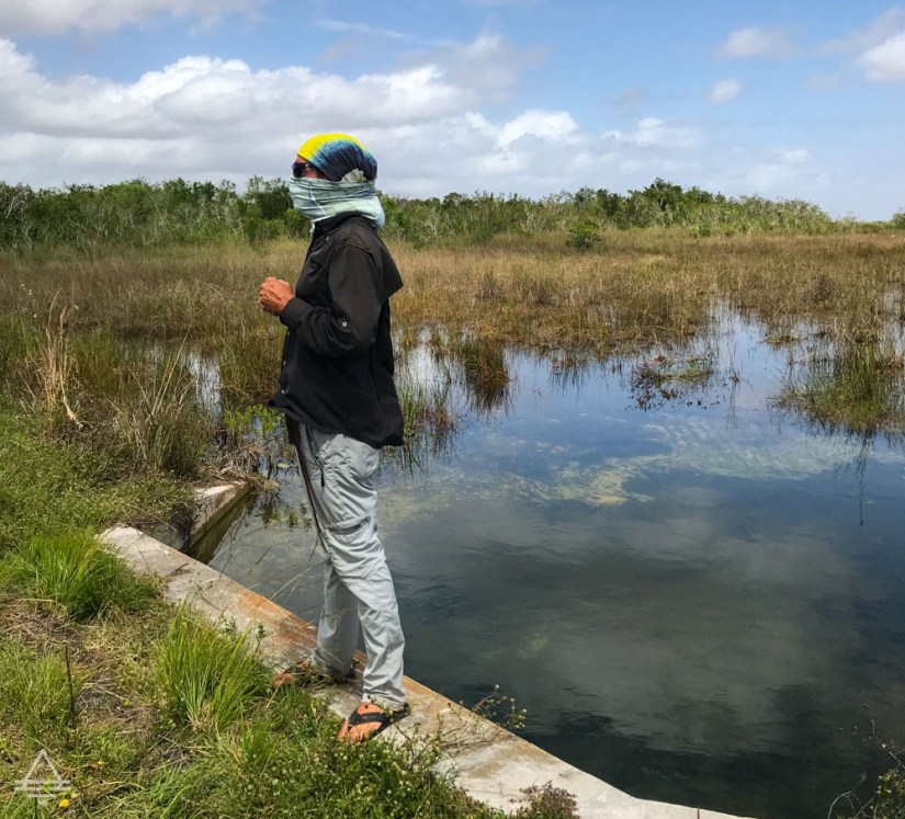 Tour guide talking in the Everglades.