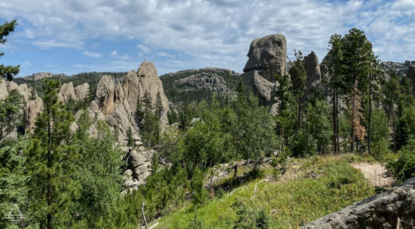 Rock formations in the trees