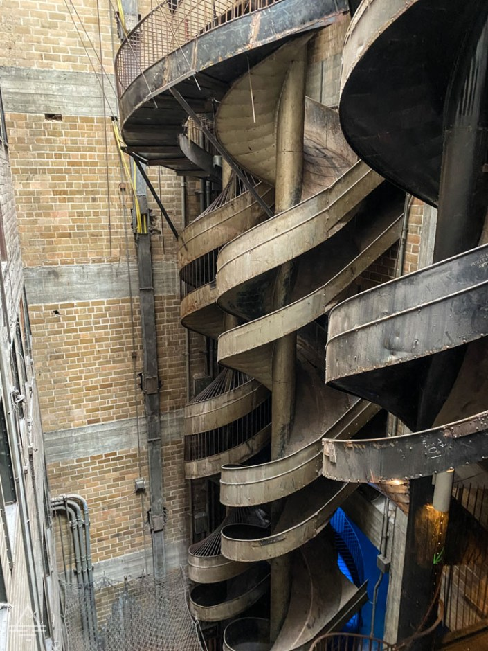 Ten story slide at the City Museum in St Louis