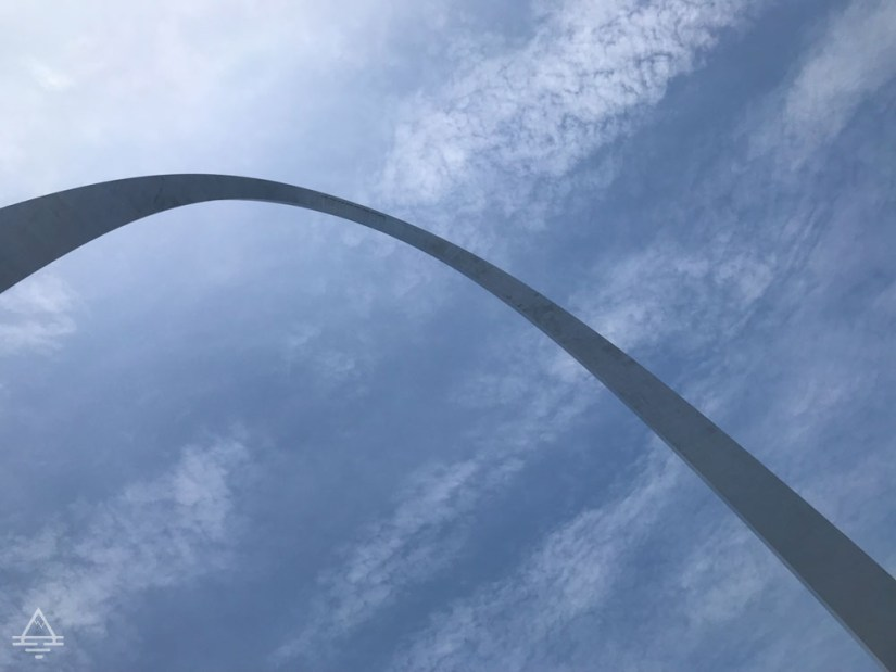 Looking up on the Gateway Arch