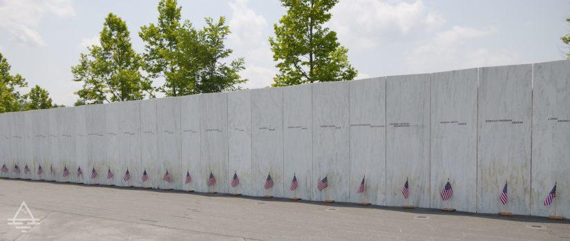 Memorial Wall at Flight 93 National Memorial