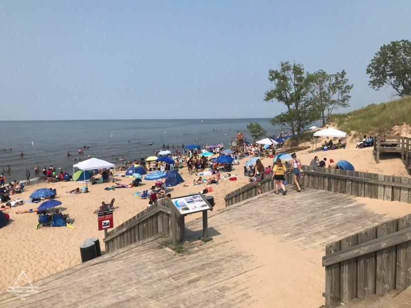 People on West Beach