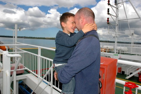 D and Daddy on the ferry