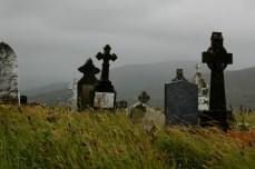 graveyard with tall grass, Beara