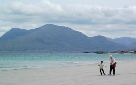 D and Grandma playing, Renvyle beach