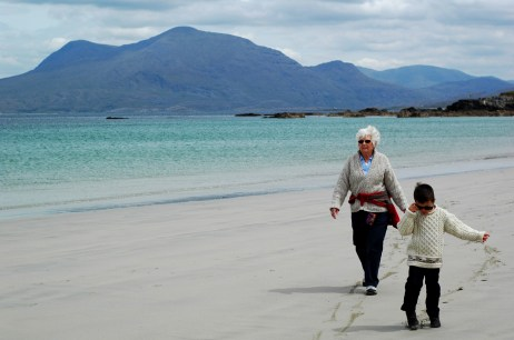 Grandma and D on Renvyle beach