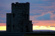 Moher tower with sunset