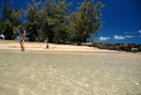 D and mom at Poipu beach