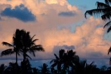 Sunset from condo balcony