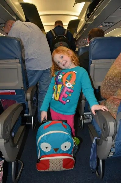 Child Boarding Airplane Carryon Bag