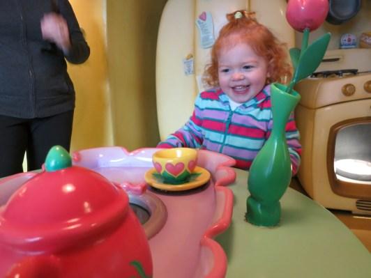 Exploring Minnie's Kitchen.
