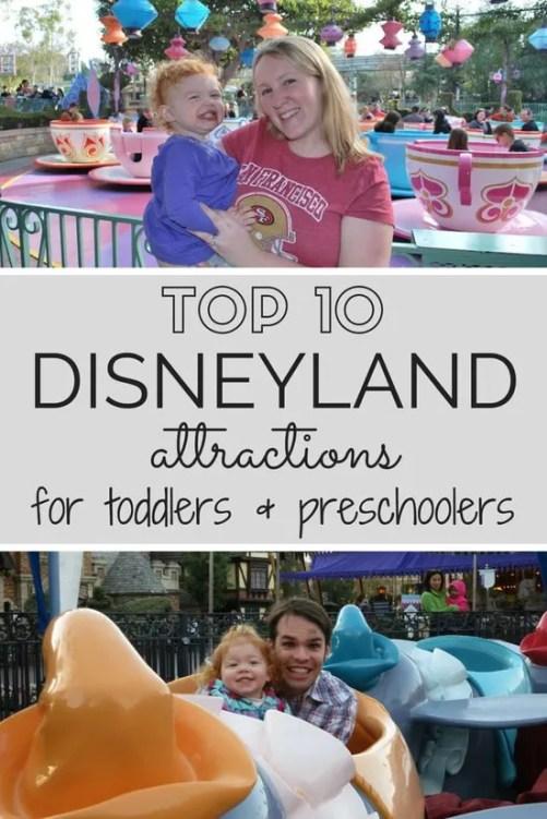 Top 10 Disneyland Attractions with Toddlers & Preschoolers