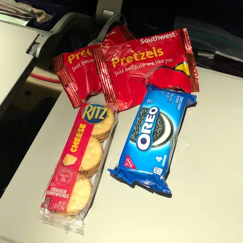 Free on Southwest Airlines - Free Snacks