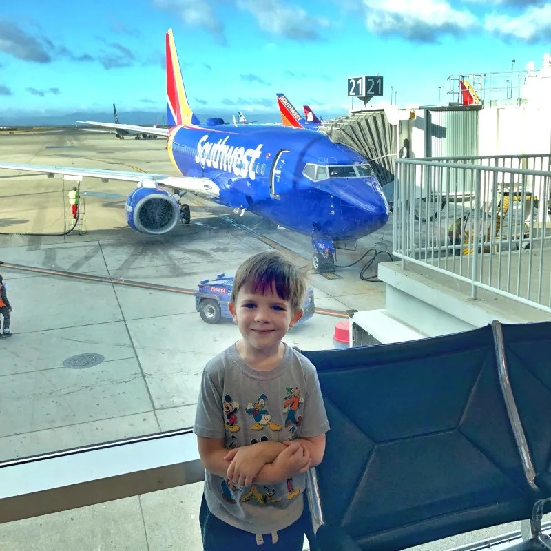 Southwest Airlines with Kids -- Preschooler in Airport
