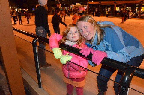 Ice skating with mom!