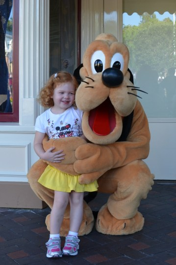 Virginia & Pluto, 3rd trip to Disneyland, September 2012