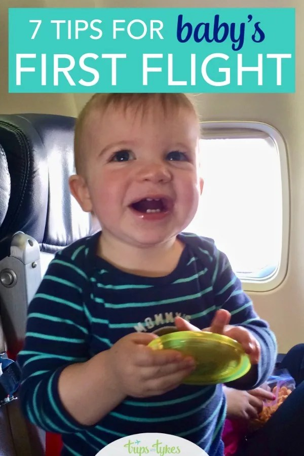 Flying with a baby for the very first time? Tips and tricks for picking the best airline, the best time of day to fly, and how to handle airport security and all the gear. #travelwithkids #travelwithbaby #airtravel