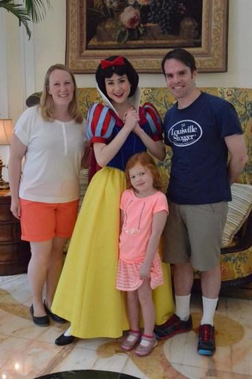 Family with Snow White at Hong Kong Disneyland