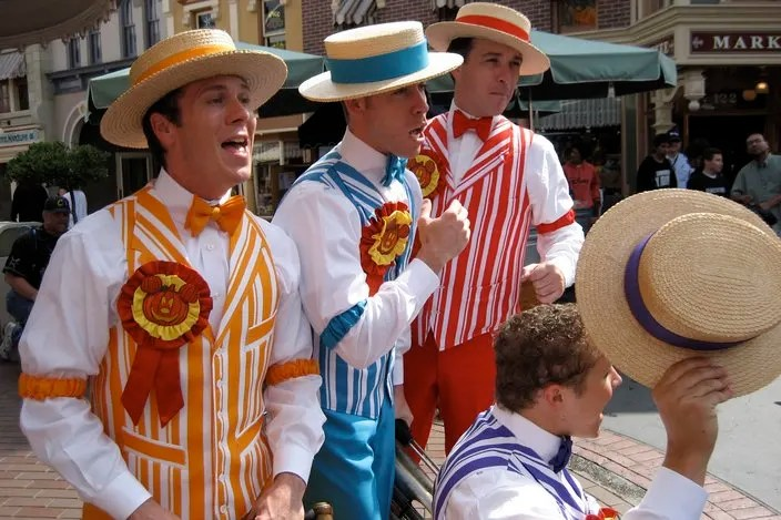 Things to Do with Preschoolers at Disneyland: Watch Dapper Dans Show