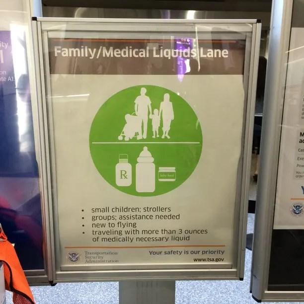 TSA Family Lane