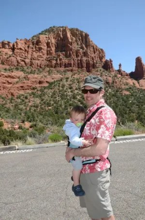 Bitybean Baby Carrier with dad