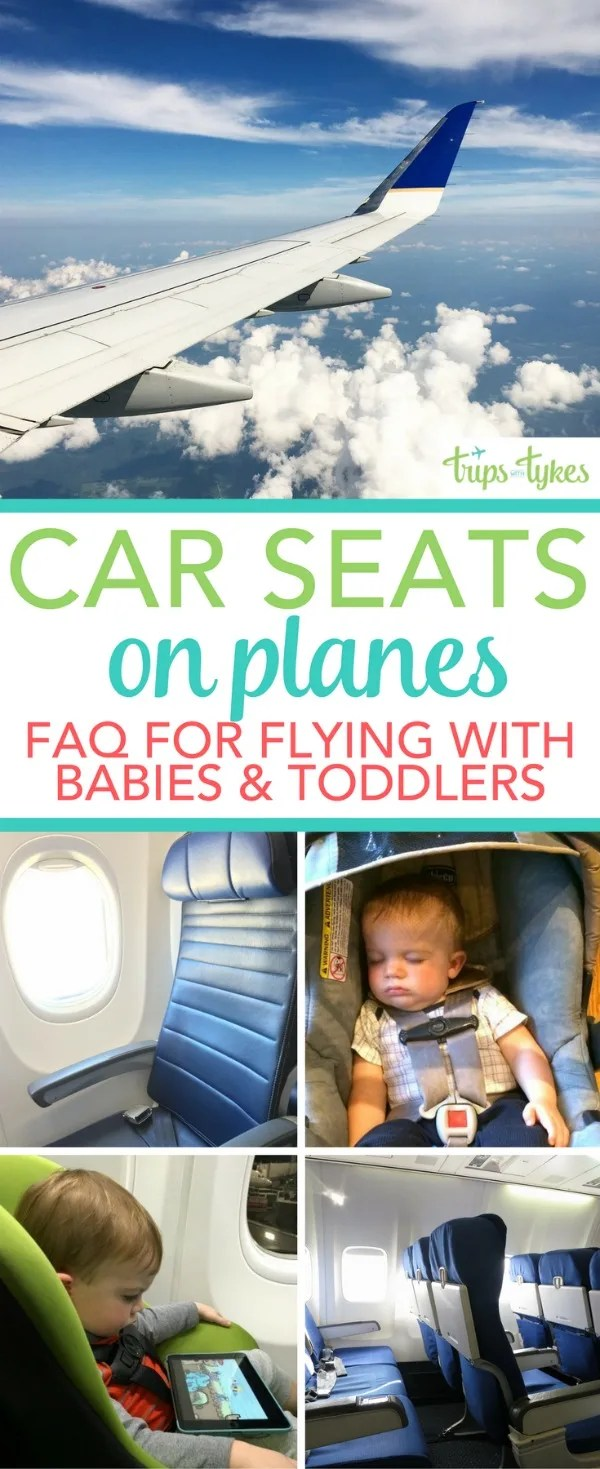Flying with kids? All your questions answered about taking car seats on airplanes for your baby, toddler, or young child. From a parent who has been on 150+ flights with young kids!