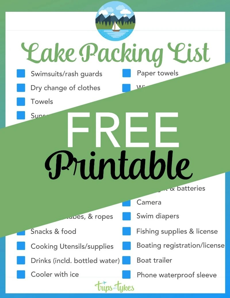 Learn what to pack for a day trip to the lake with kids with this free lake packing list printable. Plus, lots of tips for family vacations to lake destinations, whether you prefer lazy days swimming or action-packed watersports and skiing.