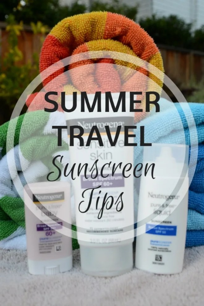 Neutrogena Summer Travel Sunscreen Tips